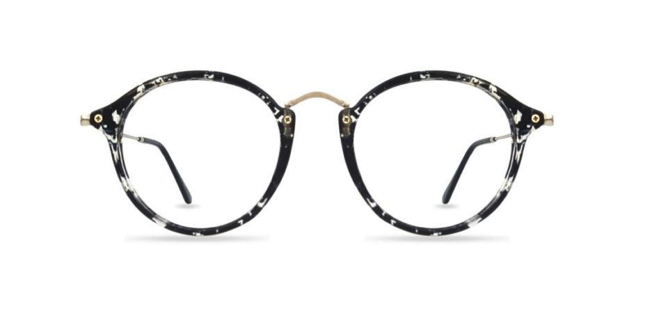 Black Round Glasses Sf 9857 3