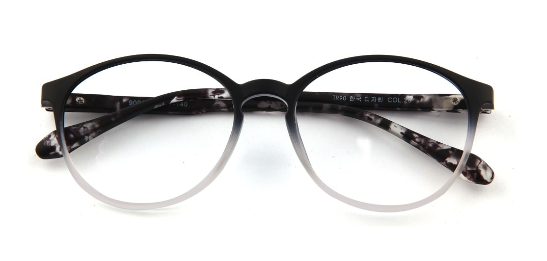 Black Gradient Round Glasses 110427 1