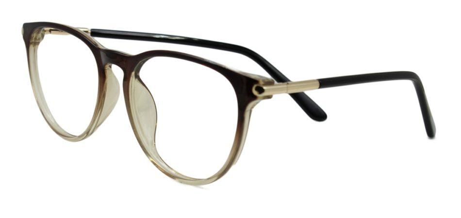 Brown Round Glasses Sf 984 2