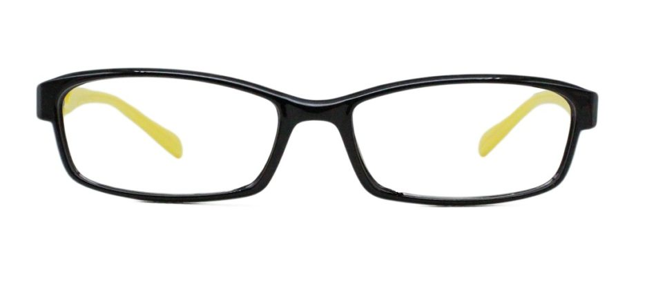 Black Rectangle Glasses 25111 3