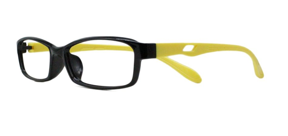 Black Rectangle Glasses 25111 2