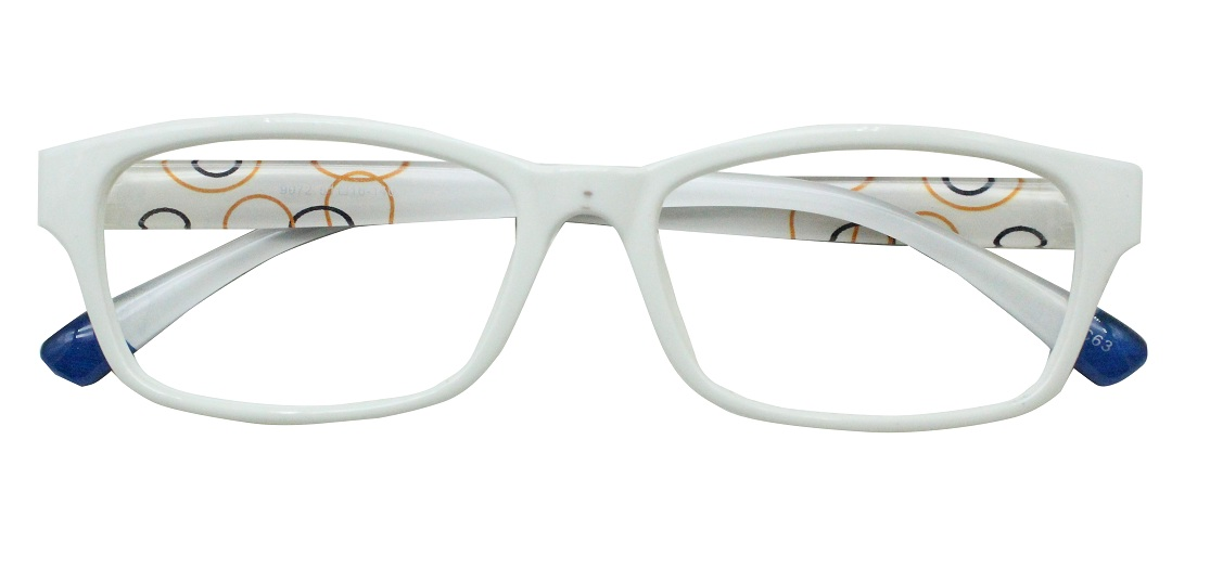 White Rectangle Glasses 191113 1