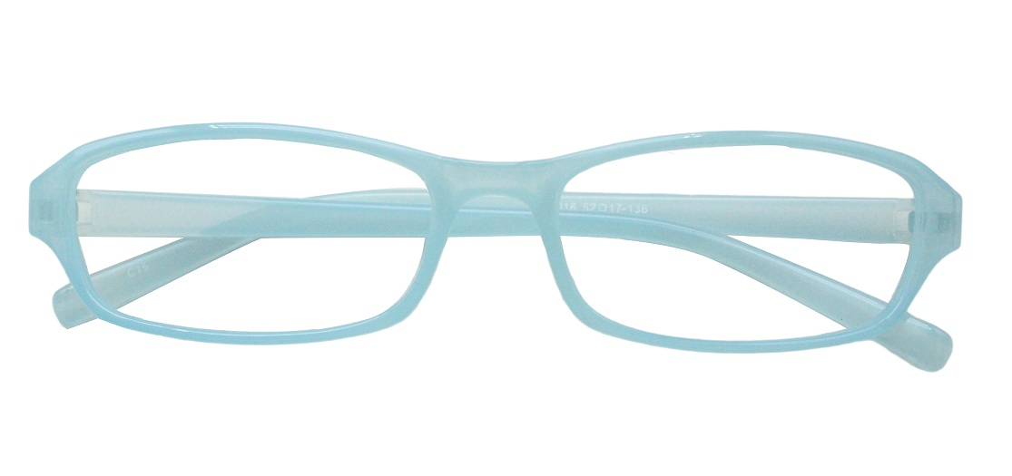 Sky Blue Rectangle Glasses 251118 1