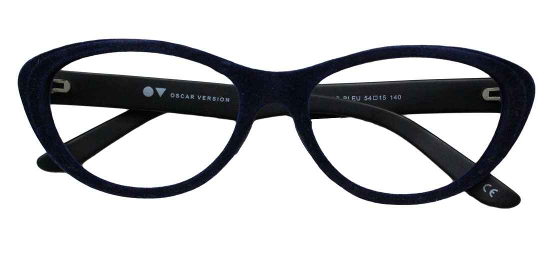 Blue Velvet Cat Eye Glasses 201123 1