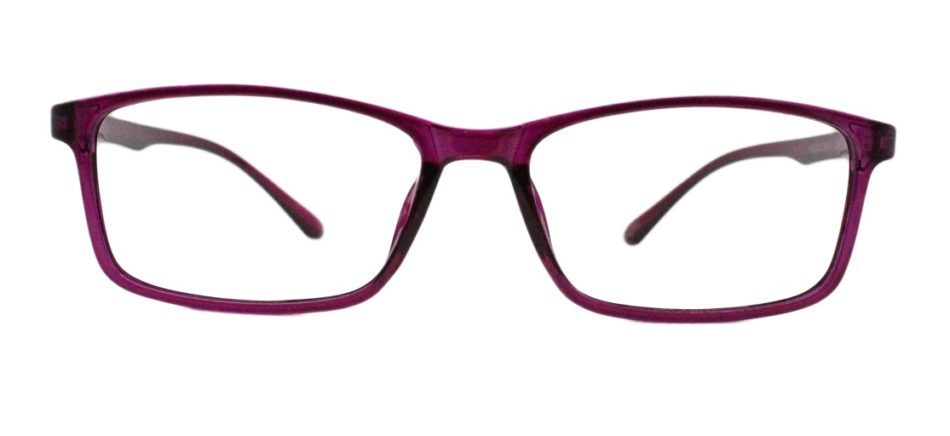 Purple Rectangle Glasses 220216 3