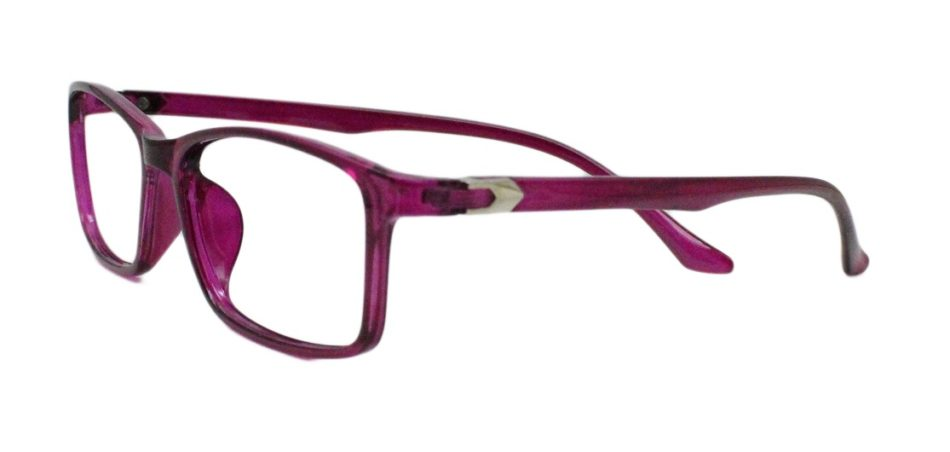 Purple Rectangle Glasses 220216 2