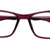 Purple Rectangle Glasses 220216 5
