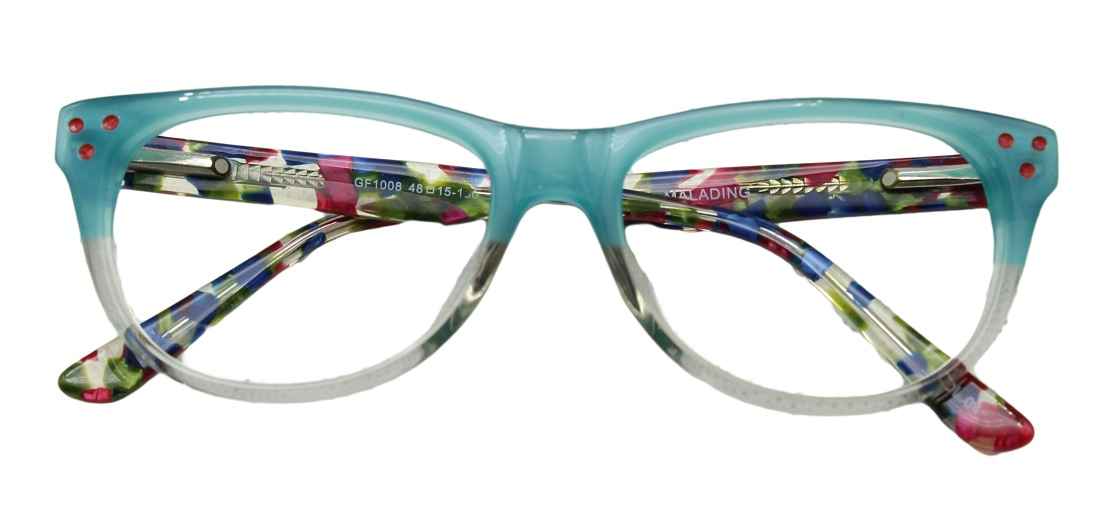 Green Square Kids Glasses 270127 1