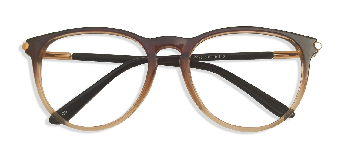 Brown Round Glasses Sf 984 1