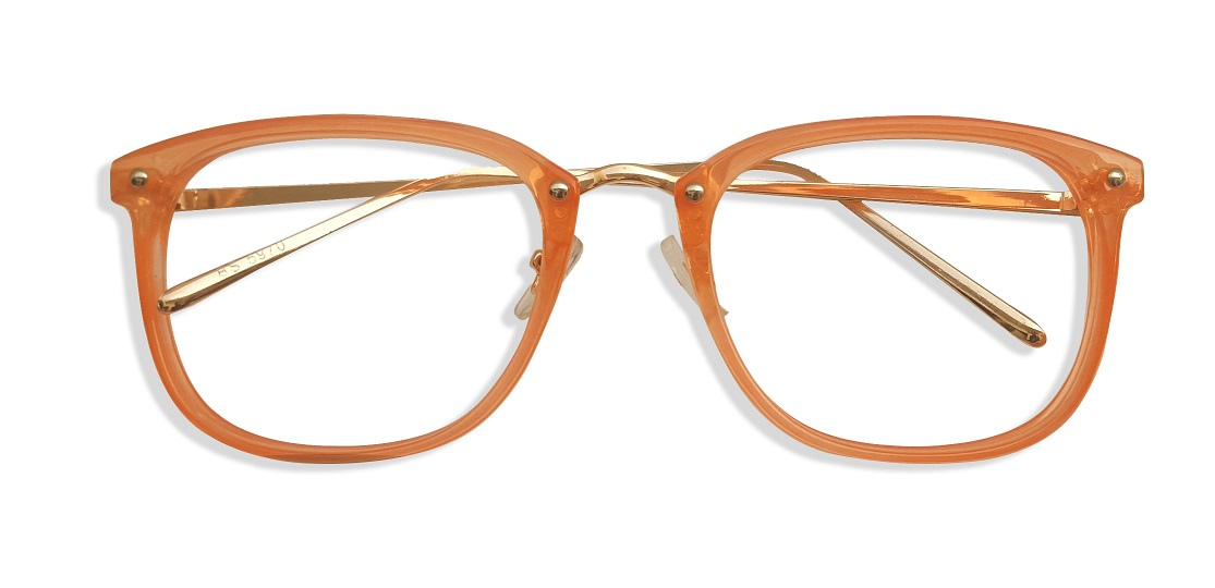 Orange Square Glasses Sf 9865 1